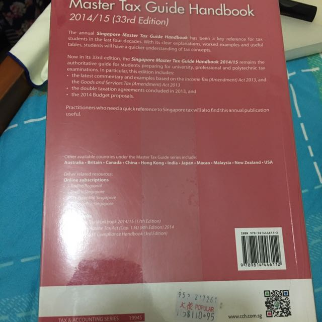 master tax guide handbook books stationery textbooks on carousell rh sg carousell com china master tax guide 2017 china master tax guide 2016