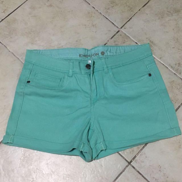 Midwaist Mint Green Shorts