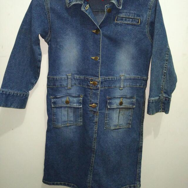 Mini Dress Jeans Anak