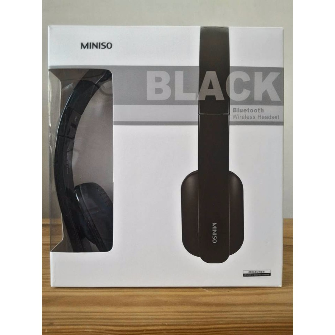 Miniso Bluetooth Wireless Headset Black Electronics Audio On Carousell