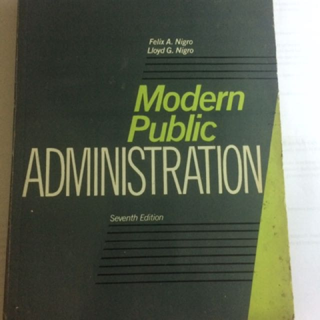 Modern Public Administration