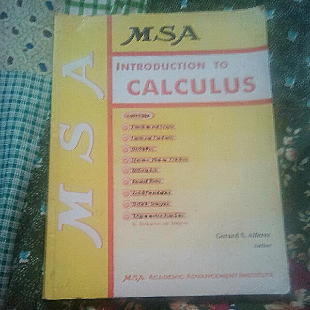 MSA Introduction To Calculus