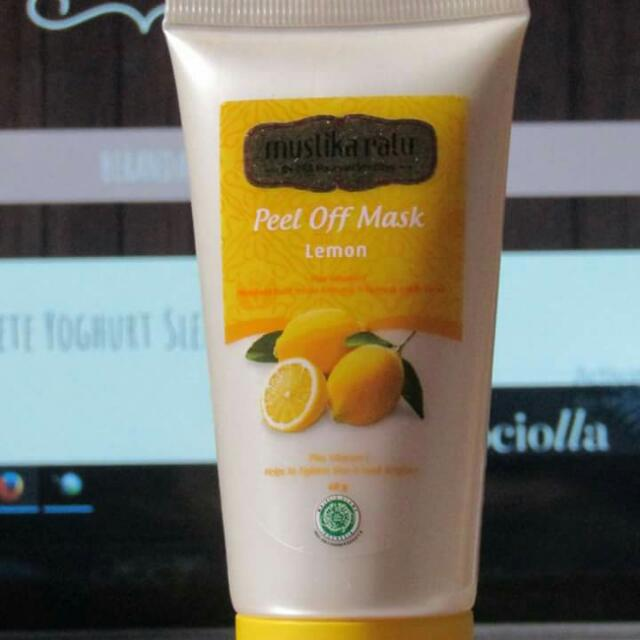 Mustika Ratu Peel Off Mask Lemon, Health & Beauty, Skin, Bath, & Body on Carousell