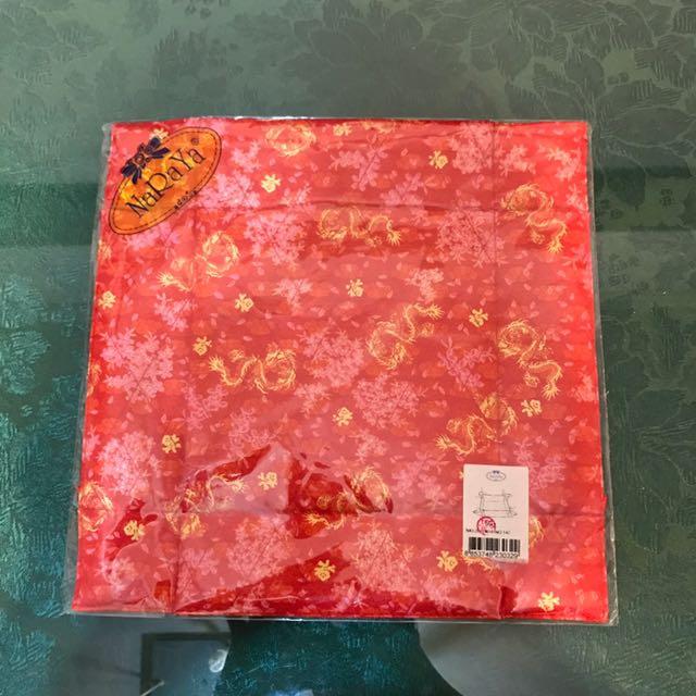 NaRaYa曼谷包品牌 大紅喜氣綁帶置物盒