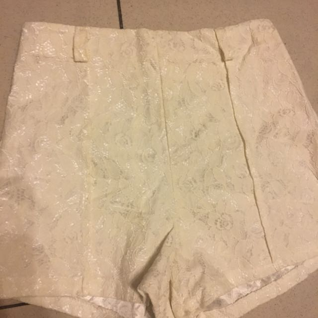 Never Used: High Waisted Lace Shorts