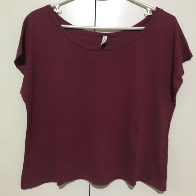 NewLook Maroon Box Cropped Top