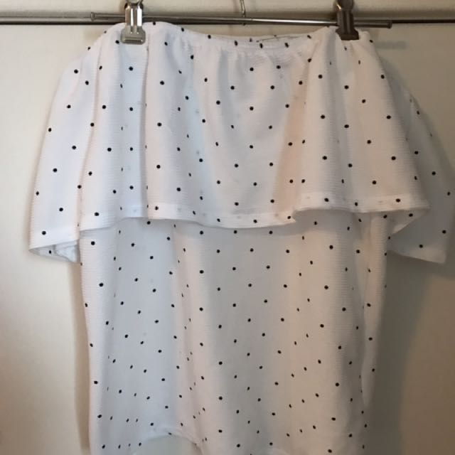 Off The Shoulder Spotty Top