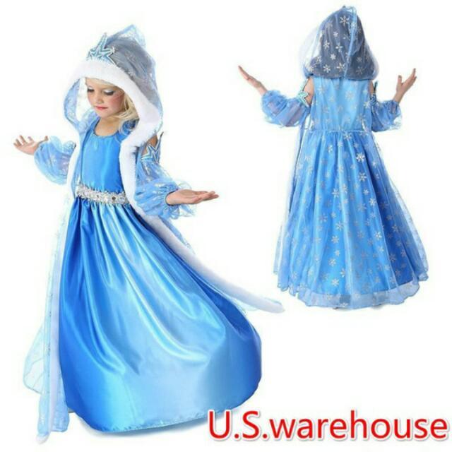 5c87b89added2 (Po)Elsa Dress Girls Costumes for Kids Snow Queen Cosplay Dresses Princess  Anna Dress Children Party Dresses