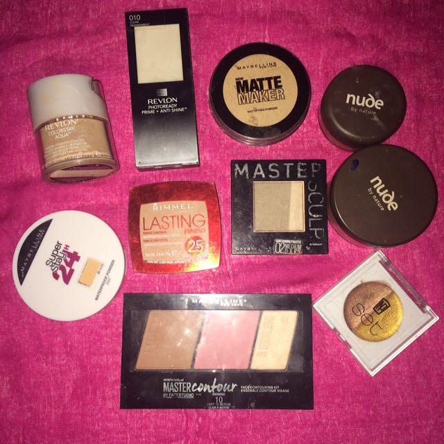 Primer, Contour, Powder, Blush, Highlighter