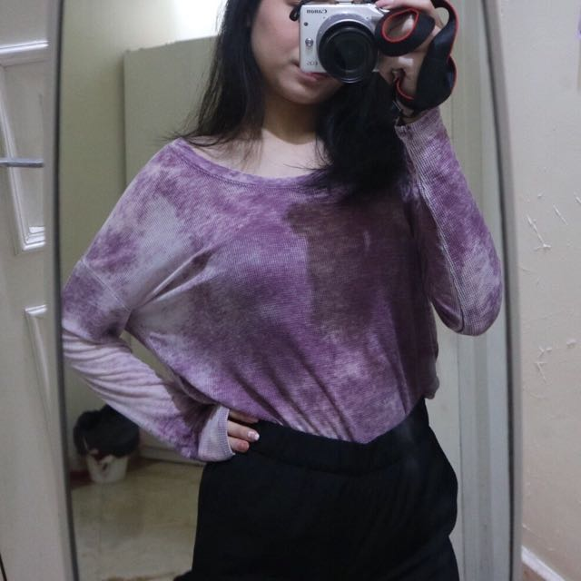 PURPLE TIE DYE LONG SLEEVE