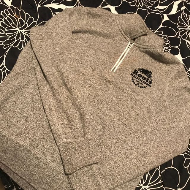 Roots Zip Polo Salt And Pepper