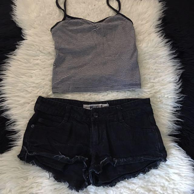 Sale! 🔥BWOT BRANDY MELVILLE ripped denim shorts