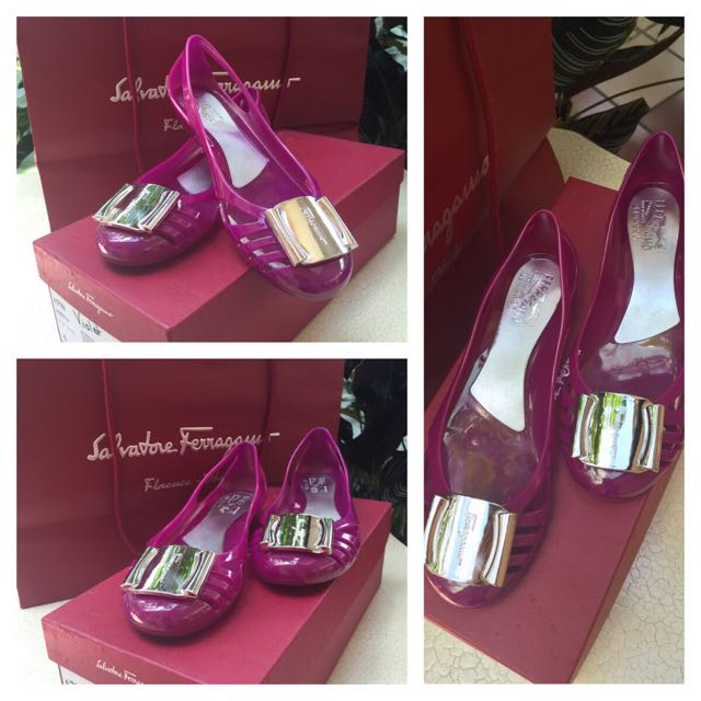 59599af97305 Salvatore Ferragamo Jelly Shoes Size 5