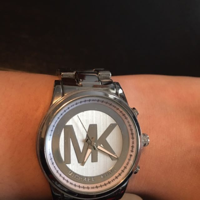 Silver Excellent Condition MK Watch