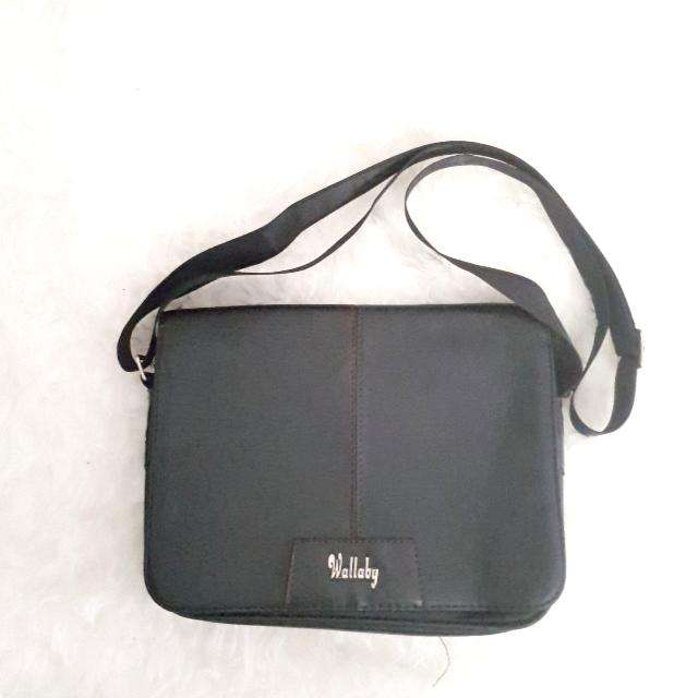 Simple Black Sling Bag