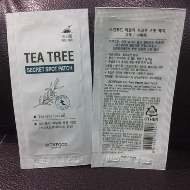 SKINFOOD TEA TREE SPOT PATCH