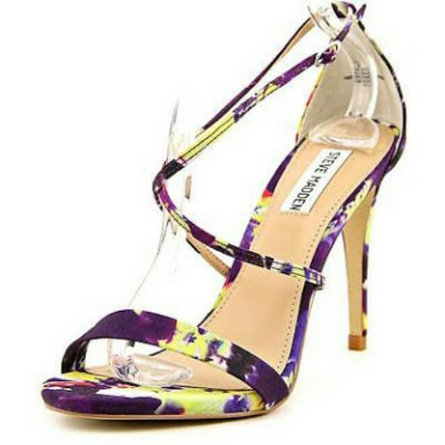 Steve Madden Ankle Strap Heels W/criscross Keme