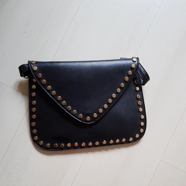 Studded Black Clutch For Her