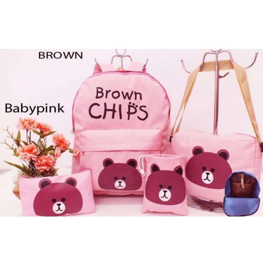 tas ransel anak perempuan 4 in 1