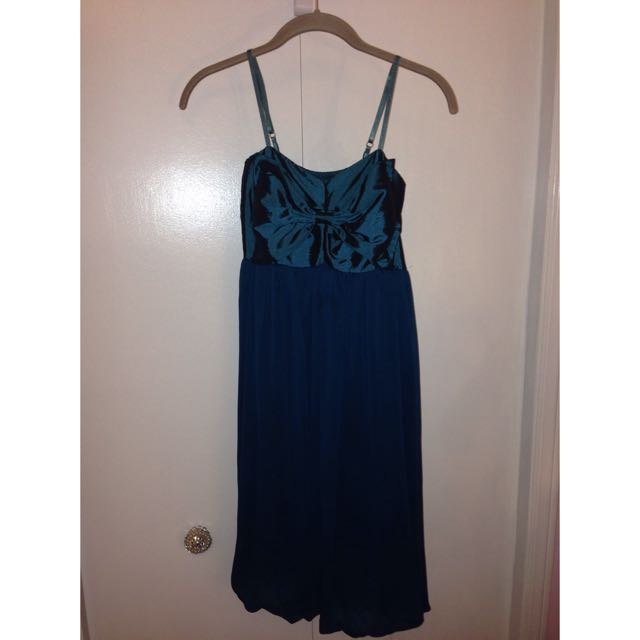 Teal Bow Dress