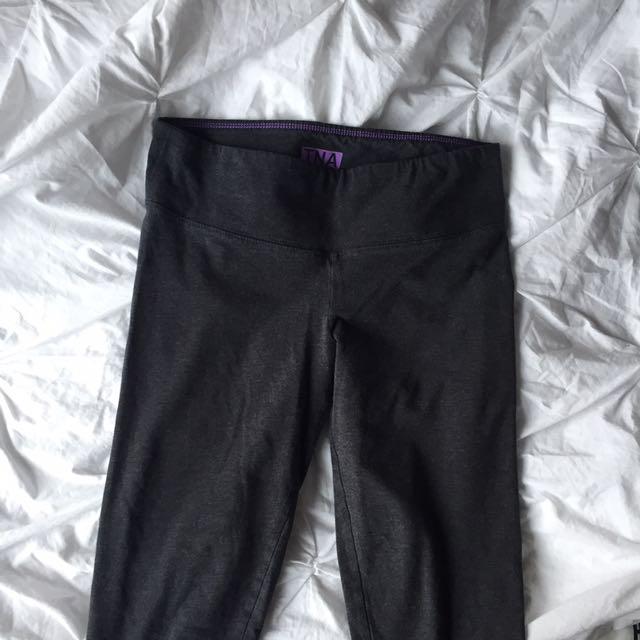 tna (aritzia) grey cotton leggings