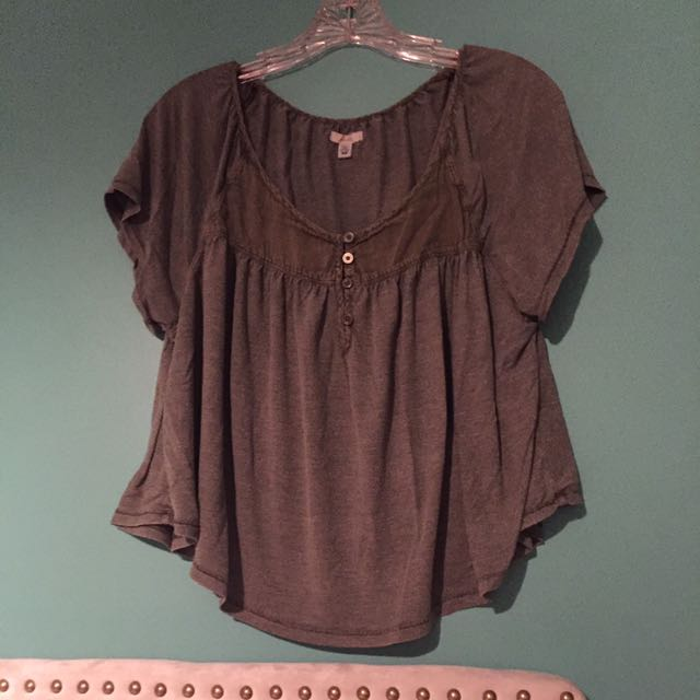 Urban Outfitters Ecote Olive Top
