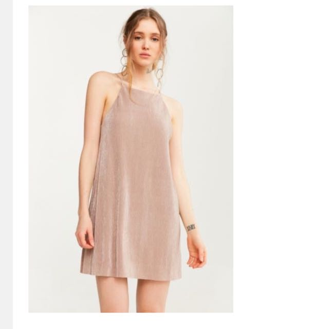 Urban Outfitters Satin Slip Square Dress
