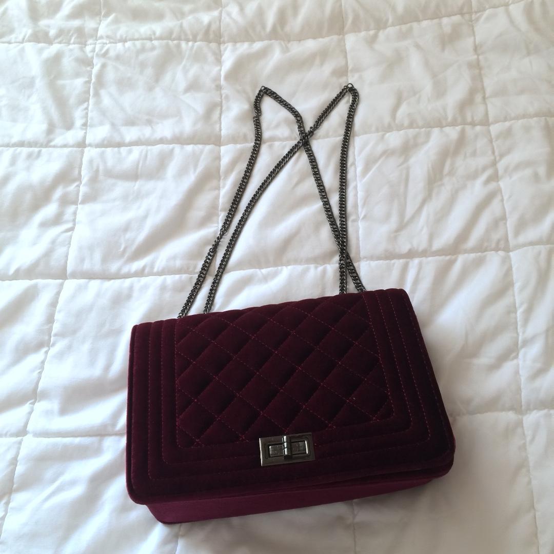 Velvet Sling Bag
