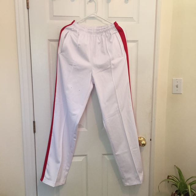 VINTAGE PANTS WITH RED STRIPE
