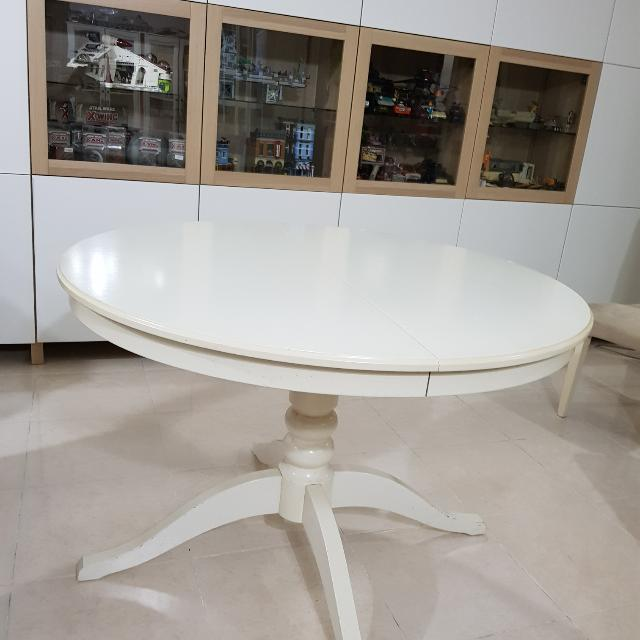 أصل مفاجئ فوز سيدتي White Round Extendable Dining Table Findlocal Drivewayrepair Com