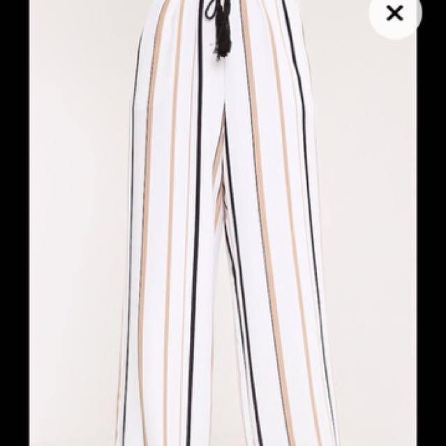 White Stripe Trousers