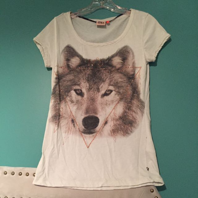 Wolf T Shirt From Only