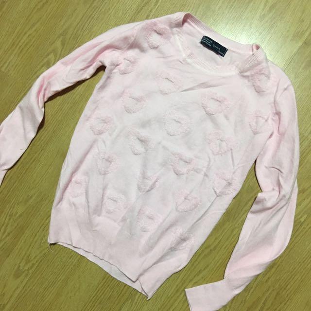 Woolen Heart Prints Sweater