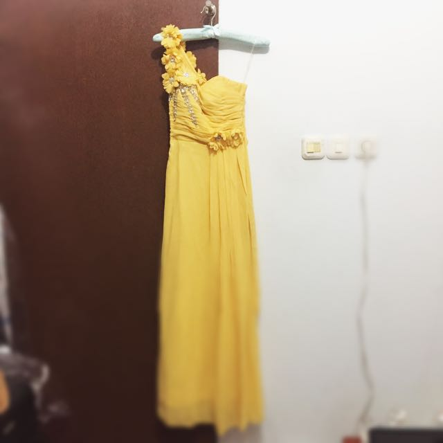 Yellow Party Dress / Bridesmaid Dress