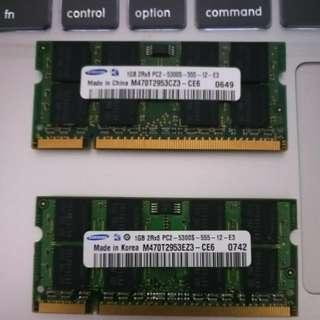 Samsung DDR2 1GB Ram x2
