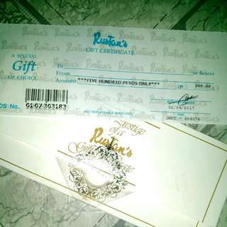 Rustan's Gift Cheque