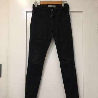 Black Topshop Leigh Skinny Jeans