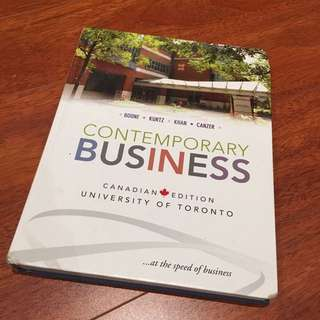Contemporary Business Textbook