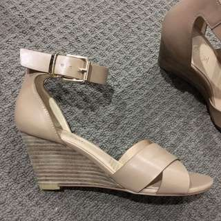 Sportgirl Tanned Nude Strappy Wedges