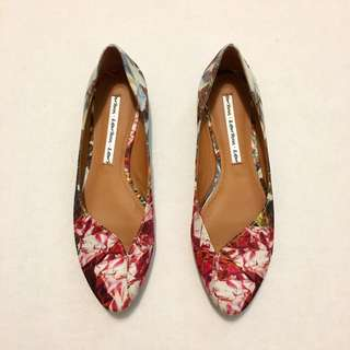 & Other Stories Jewel Print Flats (size 36)