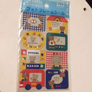 Sanrio Mr. Bear's Dream 貼紙 古董stickers 1996