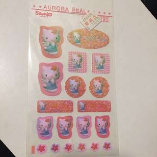 Sanrio Hello Kitty Stickers 幻彩貼紙 1997
