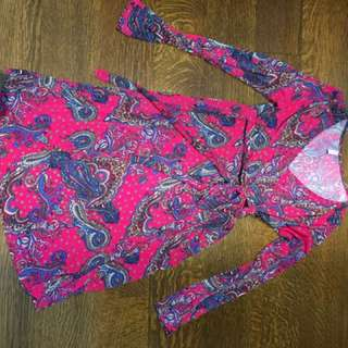 Paisley Print Maternity Dress. Size Small