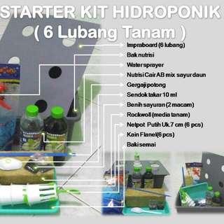 Starter Kit Wick System Hidroponik 6 Hole 🌱 Khusus Pemula