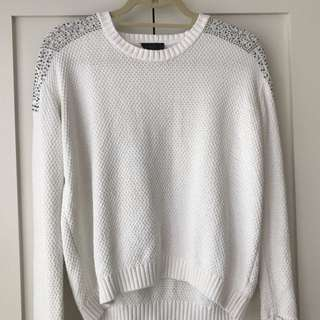 White Topshop Sweater