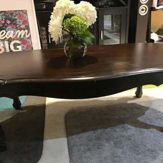 Dark Brown French Provincial Coffee Table