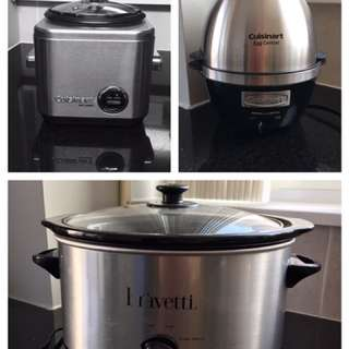 All 3 - Cuisinart Rice Cooker / Egg Central / Slow Cooker