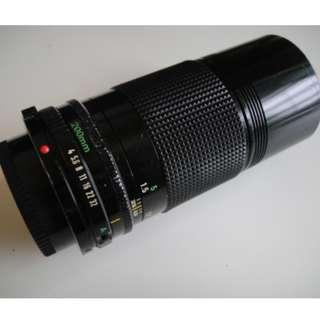 Canon FD 200mm f4 prime lens