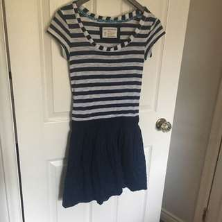 X SMALL Aeropostale Navy Blue Striped Dress