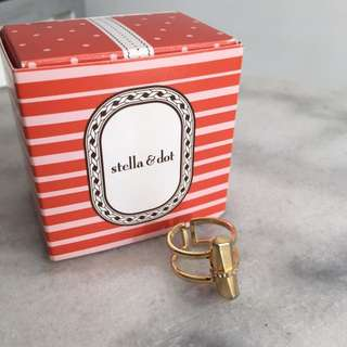 Stella and Dot Rebel Ring - Gold, Size M/L
